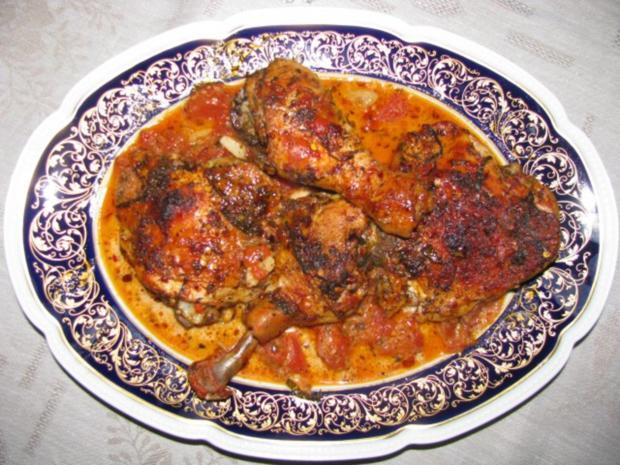 Geflügel: Hähnchen in Tomaten-Sahne-Soße - Rezept