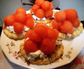 Torteletts mit Melone - Rezept