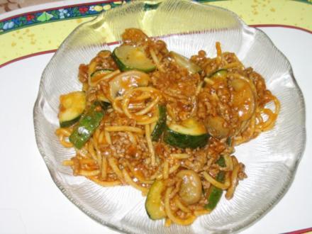 Hacktopf mit Spaghetti - Rezept