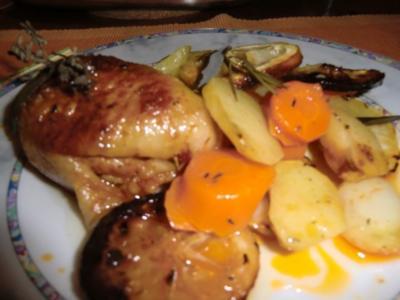 Zitronenhähnchen aus dem Backofen - Rezept
