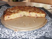 Käse-Zwiebel-Schinken Quiche - Rezept