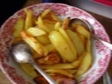 Kartoffelspalten aus dem Backofen - Mann war das ein Gebuckel .. grins - Rezept