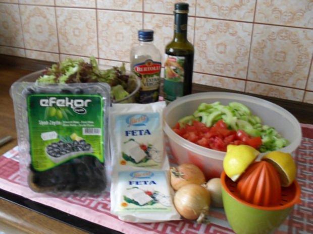 Bauernsalat Mit Feta Und Oliven Mein Geburtstagsessen Mit Gyros