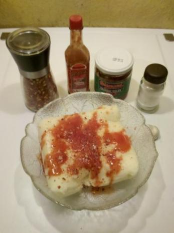 Vegetarisch: Chilli-Bratlinge mit Tomaten-Eier-Nudelsalat - Rezept - Bild Nr. 2