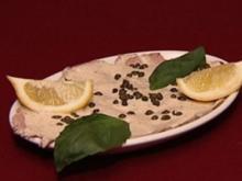 Überbackene Auberginenröllchen, Vitello Tonnato und Pimientos (Julia Josten) - Rezept