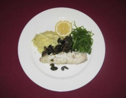 Seeteufel mit Olivensoße und Zitronen-Kartoffelpüree - Rezept