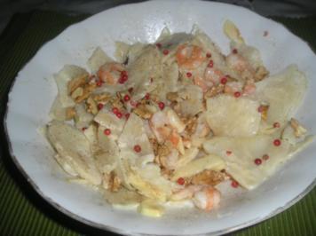 Waldorfsalat mit Garnelen oder Schrimps - Rezept