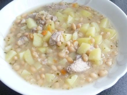 Weiße Bohnensuppe (säuerlich) - Rezept