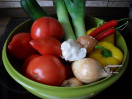 Gemüsesoße - Vorratshaltung - Rezept