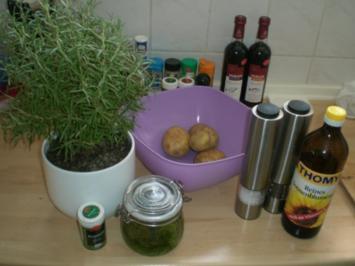Rosmarin-Pesto-Wedges (Kartoffelecken) - Rezept