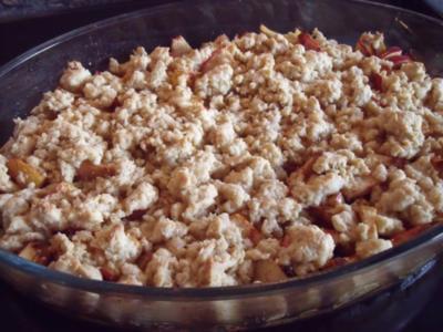 Apple Crumble, fruchtige Apfel-Süßspeise oder Dessert - Rezept