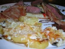 Rinderfilet, lauwarmer Spargelsalat, Parmesankartoffeln (italienische Liaison: - Rezept