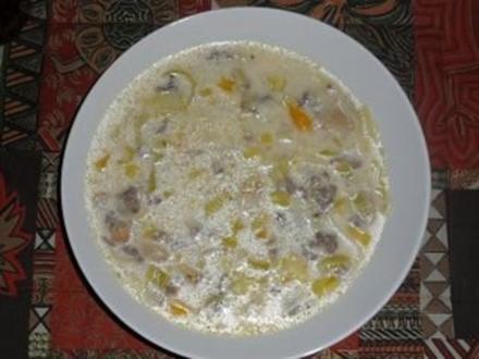 Hack-Lauch-Käse-Suppe - Rezept