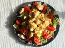 Honighähnchen auf Salatbett - Rezept
