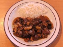 Fleisch: Lammfleisch geschmort mit frischen Mischpilzen - Rezept