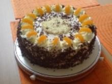 Schokoladen-Mandarinentorte - Rezept
