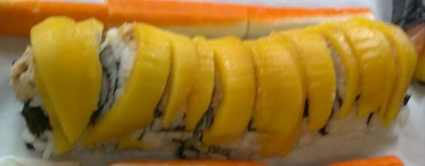 *Sushi* Mango-Roll mit Mulitvitaminreduktion - Rezept