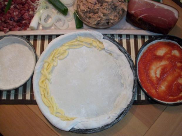 Pizza für jeden zum selbst belegen... - Rezept - Bild Nr. 2