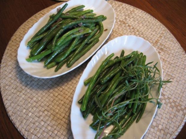 Grüne Bohnen mit Anchovis und Knoblauch - Rezept