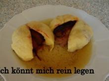 Zwetschgenknödel aus Quarkteig - Rezept