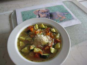 Zucchinisuppe mit Reis - Rezept