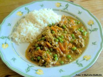Hackfleisch-Erbsen-Curry - Rezept