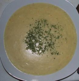 Kartoffel-Lauch-Käse-Suppe für eine(n) - Rezept