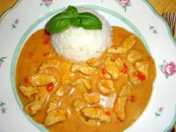 Rezept: Fleisch: Putenstreifen in Currysauce