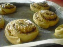 Nussschnecken (Quarkölteig süß) - Rezept
