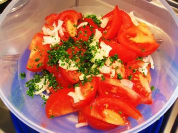 Vollreife Tomaten - leicht angemacht ... - Rezept