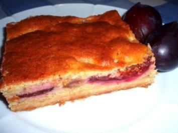 Kuchen: Zwetschgenschnitten mit Quark - Rezept