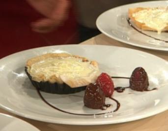 Schokoladentarte mit Himbeeren a la Henssler - Rezept