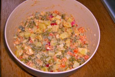 Mayonaise-Salat - Rezept