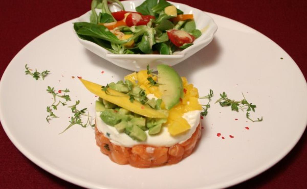 lachstatar liebt avocado und mango rezept. Black Bedroom Furniture Sets. Home Design Ideas