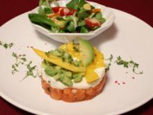 Lachstatar liebt Avocado und Mango - Rezept