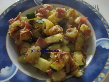 Zucchini-Kartoffel-Pfanne (Resteverwertung) ww-geeignet - Rezept