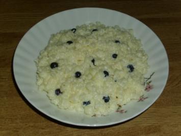 Mikrowellen Milchreis mit Heidelbeeren - Rezept