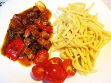Rezept: Schweins-Ragout mit viel Gemüse drin