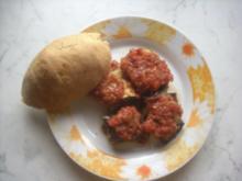 Auberginen-Zucchini Röllchen mit Räucherfisch-Gemüse Füllung - Rezept