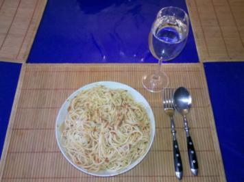 Nudeln: Arabisch-mediteranes Pesto mit Spaghetti - Rezept