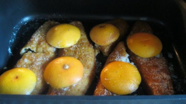 Paniertes Dorschfilet mit Grapefruitgemüse - Rezept - Bild Nr. 3