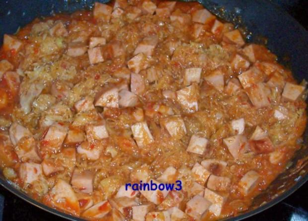 Kochen: Wurst-Sauerkraut-Pfanne - Rezept - Bild Nr. 3