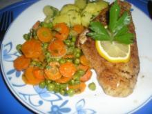 Schollenfilet mit Buttergemüse und Kartoffeln - Rezept