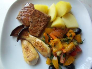 Kalbssteaks mit mediterranem Gemüse - Rezept
