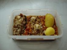 Gefüllte Zucchini mit Tomatensauce - Rezept