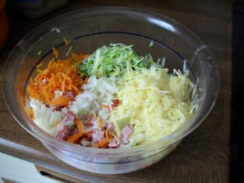 Zucchini-Kartoffelkuchen mit Schinken etc. - Resteverwertung - Rezept