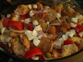 Rezept: Italienischer Brotauflauf