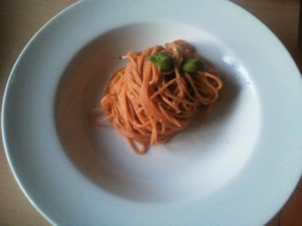 Pasta mit schnittigem Pesto. - Rezept