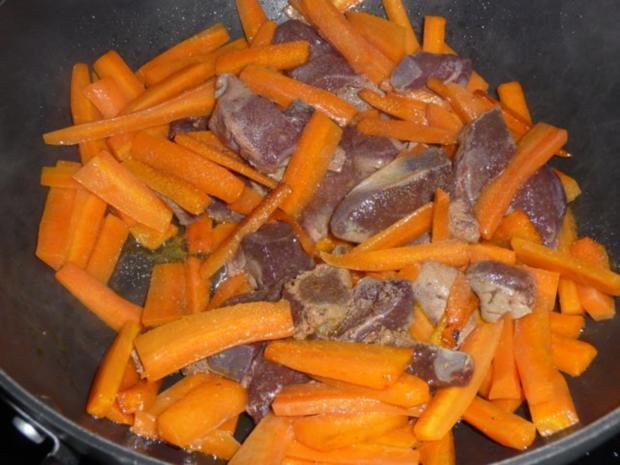 Karottenleber aus dem Wok - Rezept - Bild Nr. 4