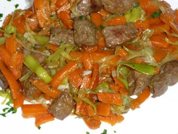 Karottenleber aus dem Wok - Rezept